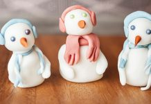 Fondant snowmen Easy Food