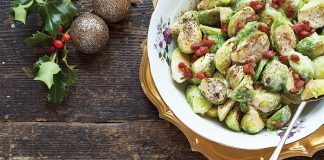 Creamed Brussels sprouts with crispy bacon Easy Food