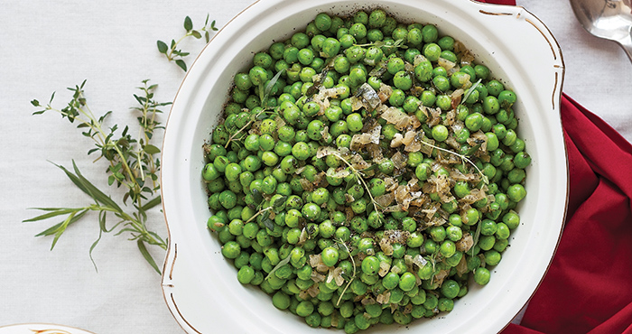 Buttered peas with shallots and herbs Easy Food