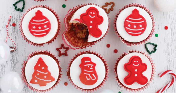 Christmas cake cupcakes Easy Food