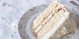 Snowy coconut meringue cake Easy Food