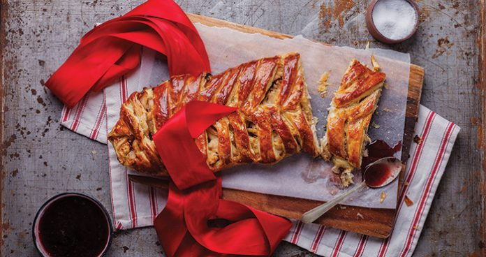 Turkey and cranberry pastry plait Easy Food