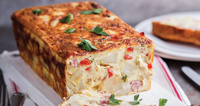 Ham and potato breakfast loaf Easy Food