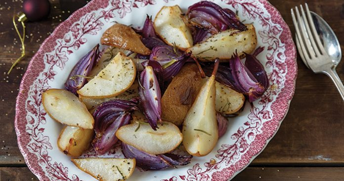 Roasted red onions and pears Easy Food