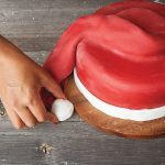 Santa hat cake cover step 10 Easy Food