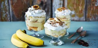 Banana pudding Christmas trifles