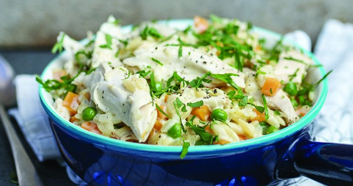 One-pot chicken orzo