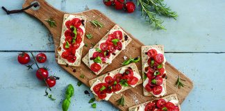 Speedy Caprese flatbreads