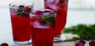 Cranberry mint juleps