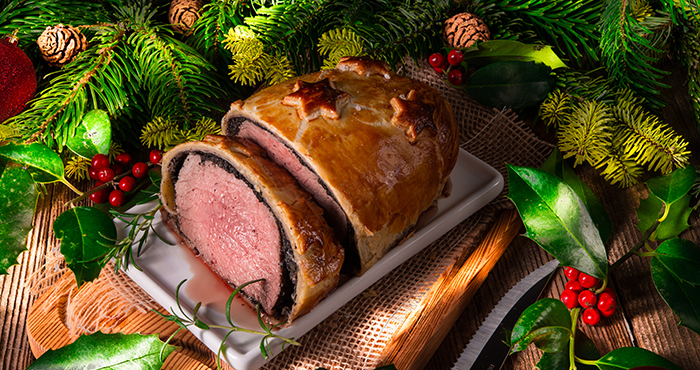 The luxurious Christmas beef menu