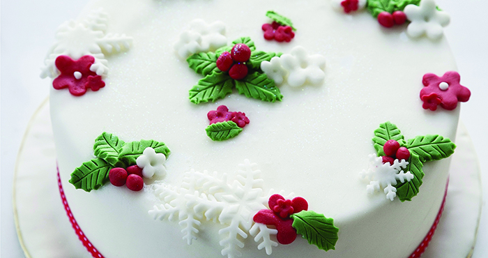 Christmas Cake Decorations.How To Make Christmas Cake Decorations Easy Food