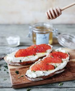 Honeyed Ricotta toast with citrus and thyme Eat Ireland Easy Food Brookfield Farm