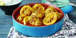 Lemon, onion and olive chicken tagine