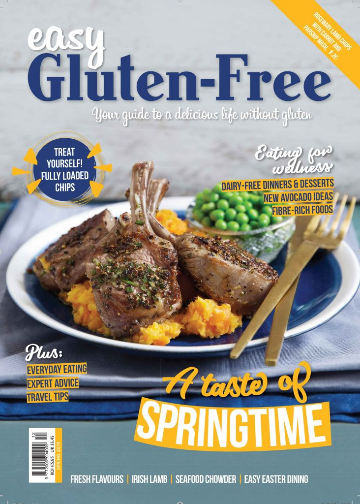 Easy Gluten Free Spring 2019 issue 12 cover Easy Food