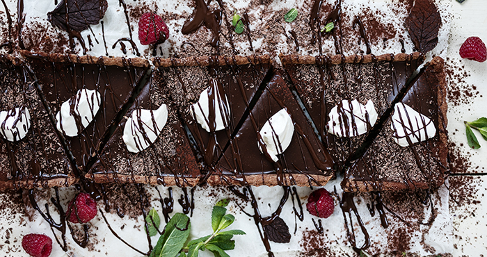 Minted dark chocolate tart Easy Food