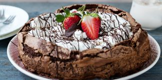 decadent flourless chocolate coffee cake