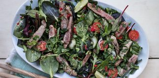 Thai-style lamb salad with mint and coriander