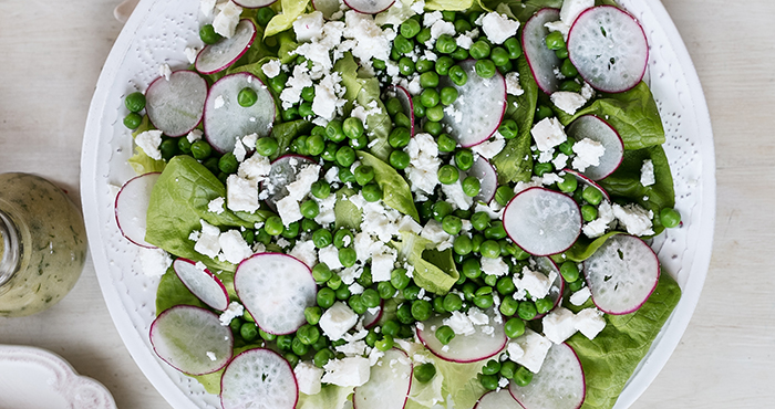 simple spring side salad
