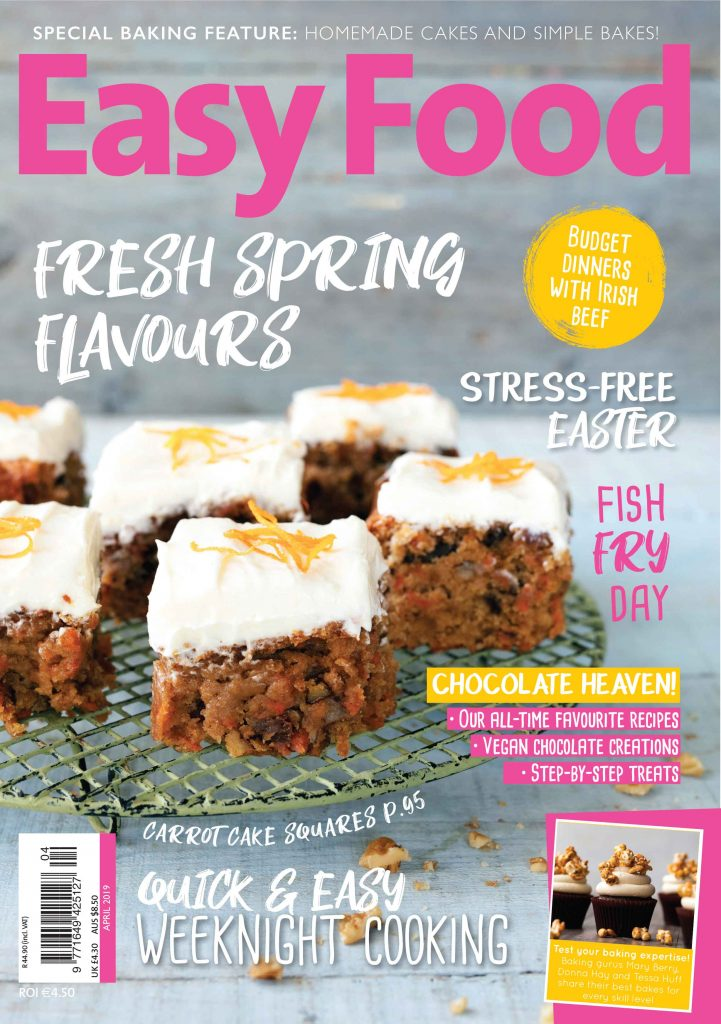 Easy Food issue 138 April 2019 cover image carrot cake traybake