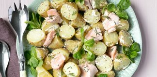 Irish Potato Salad with Poached Salmon Easy Food