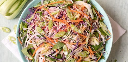 Pak Choi Red Cabbage slaw easy food