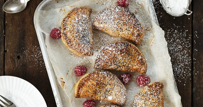 Chocolate and strawberry turnover easy food