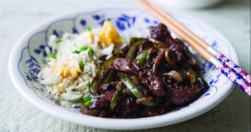 Beef with green pepper in black bean sauce Easy Food