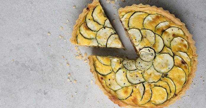 Courgette, Quiche, dinner, easy dinner, zucchini, cheese, cheesy, lunch, seasonal food, tarts, pies,