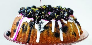 lemon poppyseed and blueberry bundt