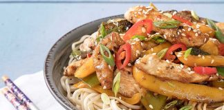 Quick_Sticky_Chicken_Noodles Easy Food