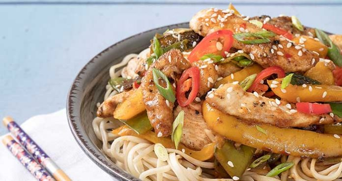 Quick Sticky Chicken Noodles Easy Food