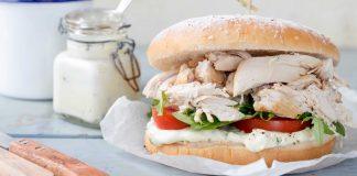 Roast chicken baps Easy FoodRoast chicken baps Easy Food