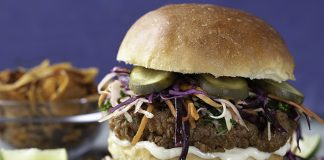 Southern fried chicken burger Easy Food