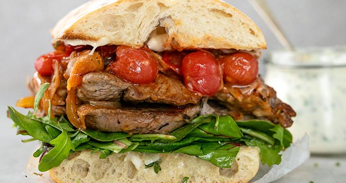 Lamb Steak Sandwiches
