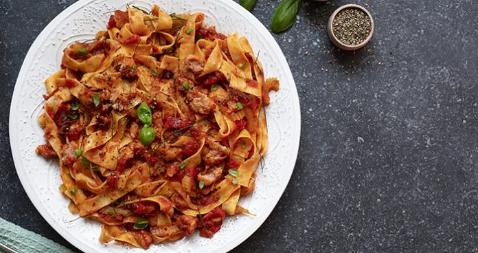 Sausage and fennel pappardelle Easy Food