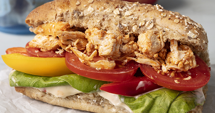 Cajun_Chicken_Wholemeal_Sub_roll_Easy Food
