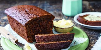 Dark ginger loaf bread Easy Food