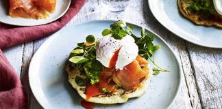 Potato pancake with smashed avocado & smoked salmon Easy Food