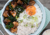 Kilbeggan organic porridge with mushrooms, eggs and greens Easy Food