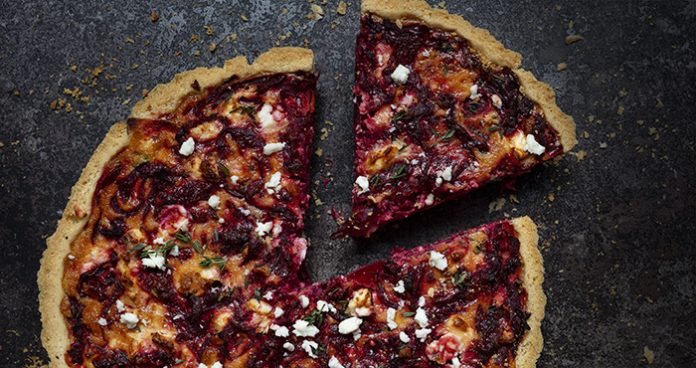 beetroot and feta quiche easy food