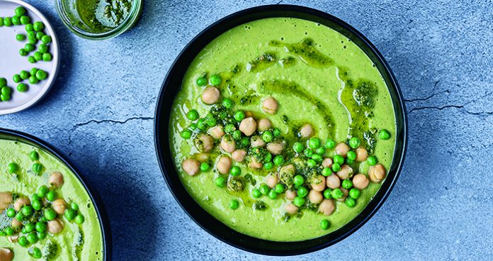 Courgette, chickpea and pea soup Credit Joanne Murphy_FX