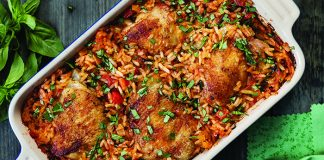 One-pan_chicken_with_tomato_rice Easy Food