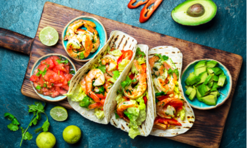 Mexican cuisine is in the fifth place