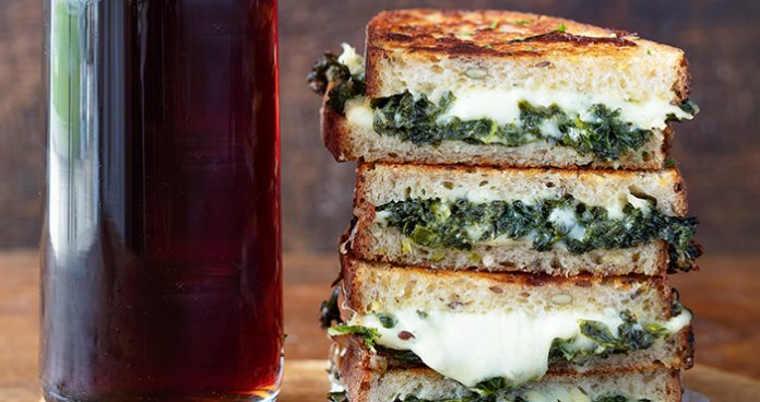 Gruyere and greens toastie Easy Food