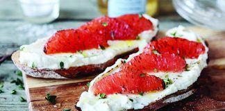 Honeyed Ricotta toast with citrus and thyme Easy Food