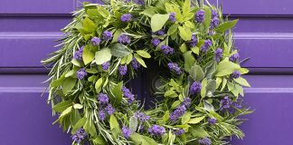 Rosemary, lavender and sage wreath