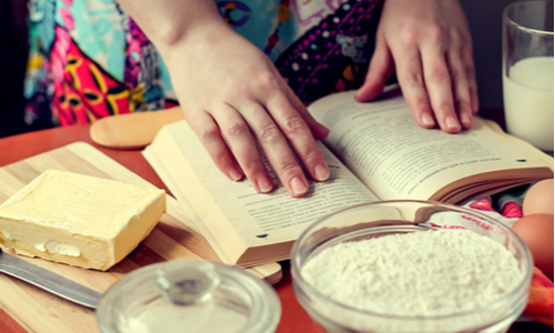 It's important to read the recipe through before you start baking.