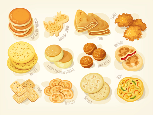 different pancakes
