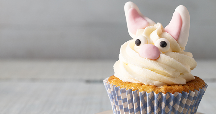 Easter bunny cupcakes Easy Food