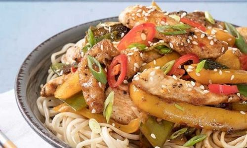 Quick sticky chicken noodles_easyfood
